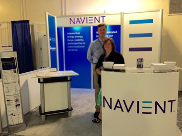 Robyn and Steve at the Navient booth