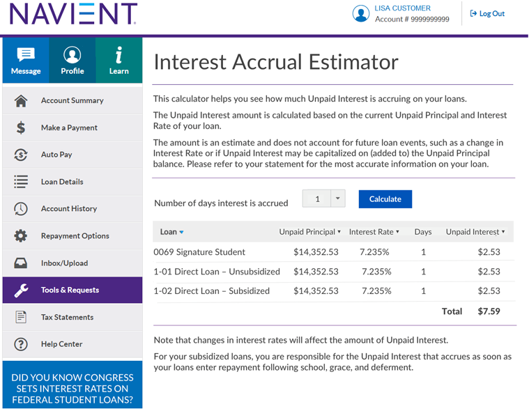 Interest-Accrual-Estimator